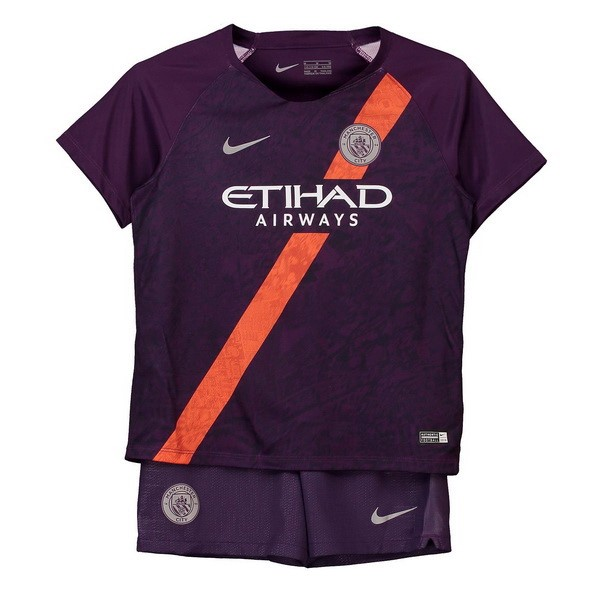 Camiseta Manchester City 3ª Kit Niños 2018 2019 Purpura